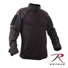 Black Military 1/4 Zip Heat Resistant Tactical Combat Long Sleeve Shirt XXL