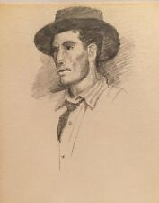 Beau DESSIN Original Double-face Portrait Homme 1991 PIERRE-HENRI SARD #31