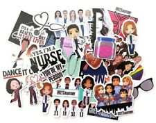 Greys Anatomy Sticker Lot 24 Waterproof Vinyl Removable Cell Phone Laptop Decals