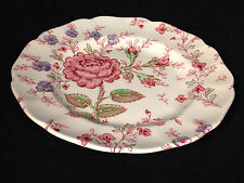 8 Rose Chintz China Saucers Dessert Plates Johnson Brothers Red Back Stamp