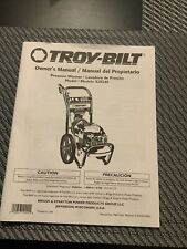 Used Troy-Bilt Pressure Washer owners manual Model 020240
