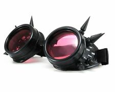 BLACK WELDING CYBER GOGGLES GOTH  STEAMPUNK STEAM PUNK SUN GLASSES  WITH SPIKES