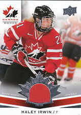 2014 UPPER DECK TEAM CANADA WOMEN GAME WORN JERSEY HALEY IRWIN *28007
