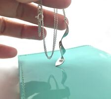 Tiffany & Co Sterling Silver Frank Gehry Orchid Pendant 16.25in Necklace 190110A