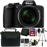 Nikon Coolpix B600 16MP Digital Camera Black with 64GB Deluxe Accessory Package