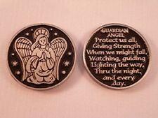 GUARDIAN ANGEL VERSE POCKET TOKEN COIN Keepsake METAL SOLID Protection Charm