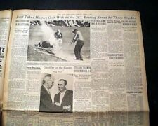 THE MASTERS TOURNAMENT Dan Ford Wins Golf Major at Augusta GA 1957 NYC Newspaper
