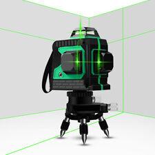 Green Laser Level Self Leveling 360 Vertical Cross Line Measure 12 Lines 3d