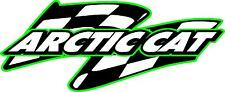 "Arctic Cat snowmobile sticker decal large flag green 9""x 22"""