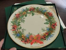 Lenox Colonial Christmas Wreath Plate 1990 New Jersey