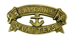 CAPTAINS QUARTERS SIGN Nautical Plaque Ship Boat Sign Wall & Home Decor Gift