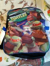 Nickelodeon Teenage Mutant Ninja Turtles Backpack (Preown)V.G. 14ins by 11ins.