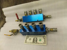 Hydraulic Pneumatic Aluminum Manifold Block 5 Port Coupler 14 1 Npt 74x225