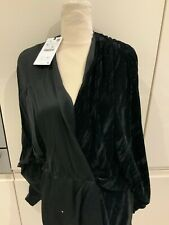 ZARA BLACK COMBINED WRAP MINI DRESS SIZE XL BNWT RRP £49.99🛍🛍