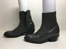 VTG WOMENS UNBRANDED SHORT COWBOY GRAY BOOTS SIZE 7 M
