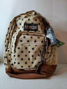"""Trans by JanSport 17"""" Super Cool Backpack - Distressed Stars  NEW WITH TAGS"""