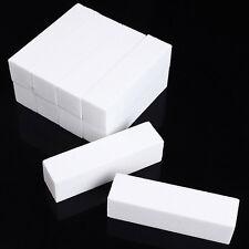 10 x Useful Buffer Buffing Block Sanding Files Nail Art Tips Manicure Tool White