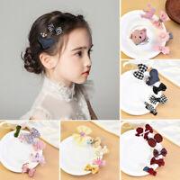 5Pcs Cute Kids Baby Girl Hair Clips Set Bowknot Heart Crown Headwear Hairpins PR