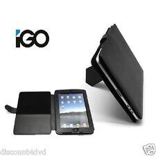 Negro IGO Piel Cuero Funda Soporte Elegante Protector para Apple iPad 2 3 4