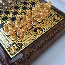DISNEY PARKS ANFRAMA  24k HAND MADE GOLD FOIL FAB 5 CHESS SET