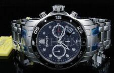 Invicta Men 48 MM Pro Diver Scuba Black Dial Chronograph S.S Bracelet Watch NEW