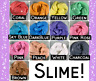SLIME Fluffy or Thick CUSTOM Order Create Your Choice Color Scent Scented 8 oz