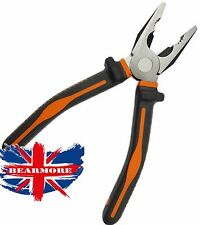 "8"" Inch Combination Pliers TPR handle Electrician DIY Cutting Construction"