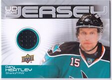 MINT! 2010-11 UPPER DECK GAME USED JERSEY PATCH NO. GJ2-DH DANY HEATLEY SHARKS