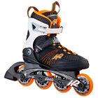 K2 Alexis 80 W in linea pattini Donna NERO ARANCIONE 30a0104 Monopattino skating