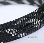 8mm Wide TIGHT Braided PET Expandable Sleeve Cable Wire Sheath Mesh Loom 2-10M