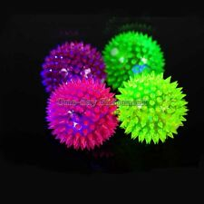 4 pcs Light-Up Spinny Balls Dog Cat Catch Ball LED Flashing Sensory Blinking Toy