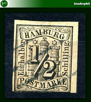 GERMANY HAMBURG Yvert # 1 Used VF