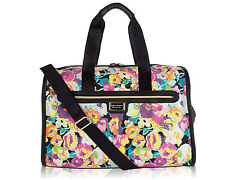 Betsey Johnson Be Mine Quilted FLORAL Carry-on Weekender Duffel Travel Bag - NEW