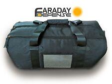 Faraday Cage Duffel Bag XL Black Canvas Shielding GPS WiFi Signal Blocking