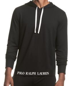 POLO RALPH LAUREN Men's Polo Black Soft Terry Sleep Hoodie NEW NWT