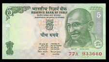 World Paper Money - India 5 Rupees Nd 2002 P88Aa @ Crisp Xf+