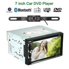"""Double 2 Din 7"""" HD In Dash Stereo Car DVD CD MP4 Player Bluetooth Radio Camera"""