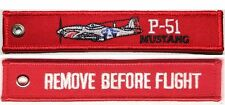 P51 MUSTANG - REMOVE BEFORE FLIGHT - RED KEYCHAIN - KEY030