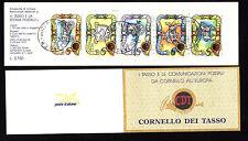 ITALIA 1993 LIBRETTO  TASSO E LA STORIA POSTALE  USATO  (61