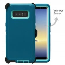 For Samsung Galaxy Note 8 Defender Rugged Case (Belt Clip Fits Otterbox) Cyan TL