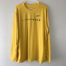 Nike Fit Livestrong Athletic Long Sleeve Lance Armstrong Foundation Cycling XXL