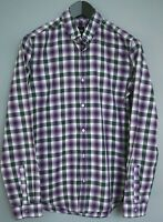 Men Hugo Boss Shirt Slim Fit Check Cotton Casual Size S MAA202