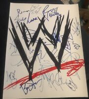 WWE SUPERSTARS SIGNED 8X10 PHOTO SMACKDOWN ROSTER RAW W/COA+PROOF RARE WOW