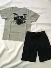 NWT Gymboree DRUMS 6 Shirt Top Knit Cargo Shorts SURF LEGEND Outfit Navy Drummer