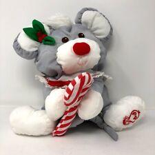 Vintage Fisher Price Puffalump Christmas Mouse Stuffed Animal 1987 Plush