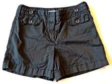"Loft Ann Taylor Shorts Size 8 Black Chino Summer M Cotton Womens 4.5"" Inseam"