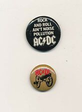 AC/DC For This About to Rock../ Rock and Roll Ain't.. RARE vintage promo buttons