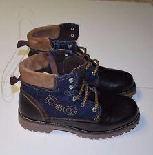 BNWT Designer D&G Dolce & Gabbana Boys Calfskin Leather Ankle Top Shoe Boots 39