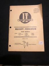 Massey-Ferguson I&T Shop Service Manual TO35 F40 MH50 MHF202 MF35-MF204 MF-14