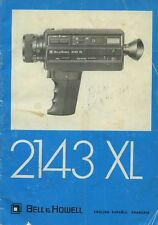 Bell & Howell 2143XL super 8 sound movie camera instruction manual 1976